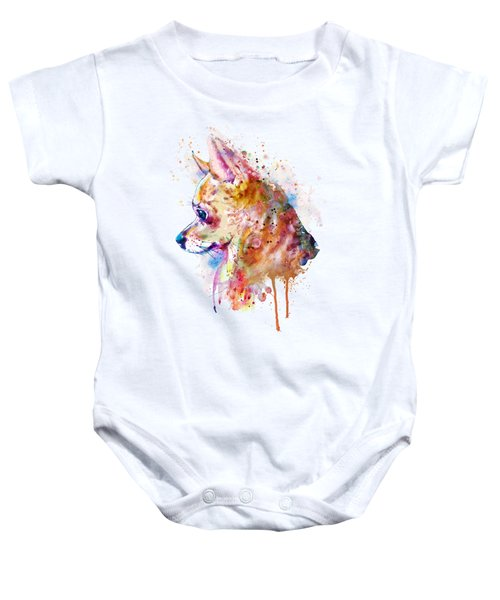 Watercolor Chihuahua  Baby Onesie