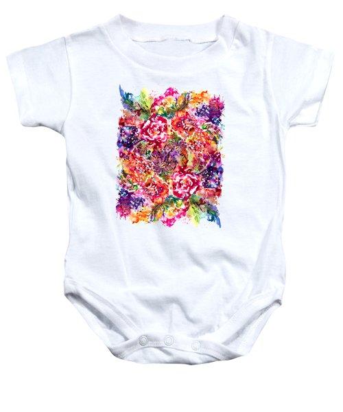 Watercolor Garden IIi Baby Onesie