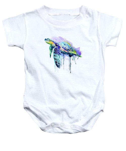 Watercolor Sea Turtle Baby Onesie
