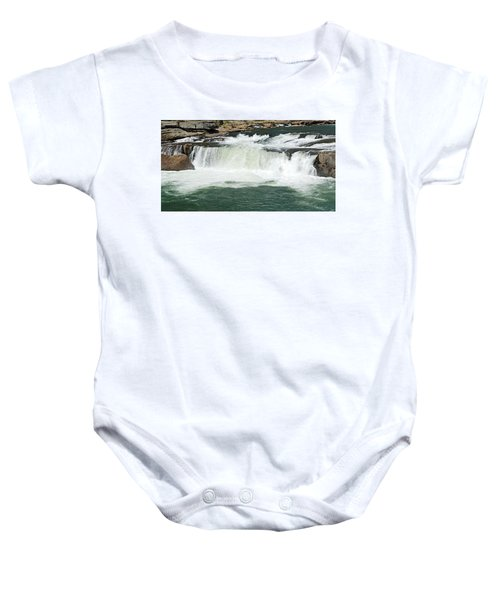 Waterfall At Ohiopyle State Park Baby Onesie