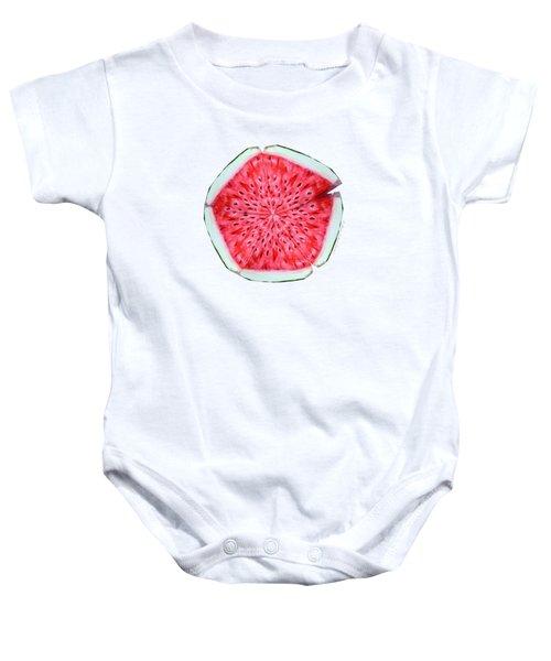 Watermelon Star Wheel Baby Onesie by Shana Rowe Jackson