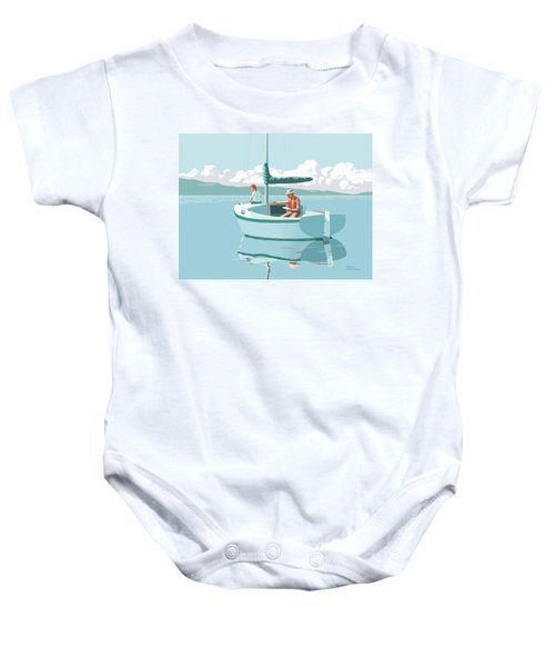 Wating For The Wind Baby Onesie