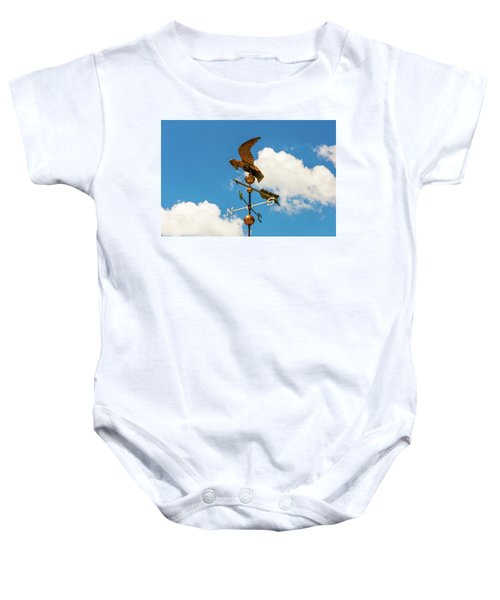 Weather Vane On Blue Sky Baby Onesie