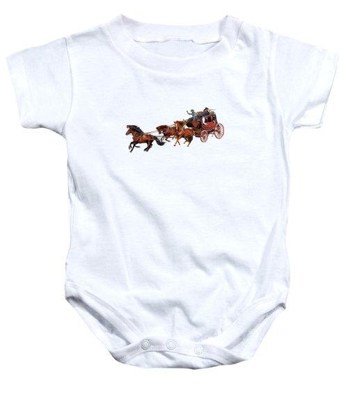 Wells Fargo Stagecoach Baby Onesie