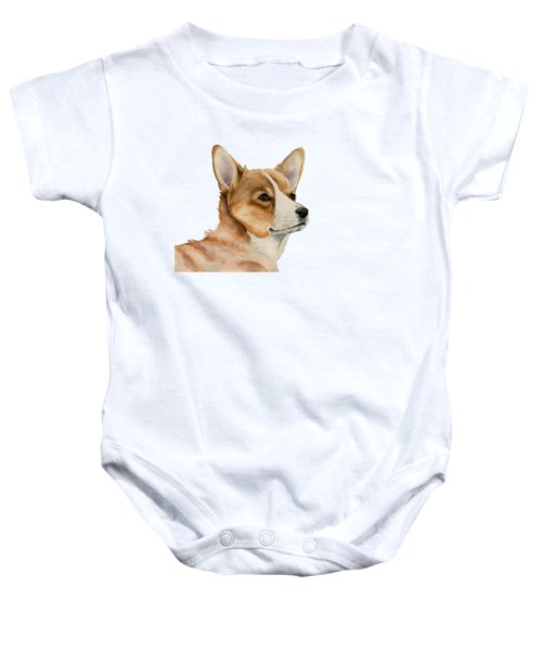 Welsh Corgi Dog Painting Baby Onesie