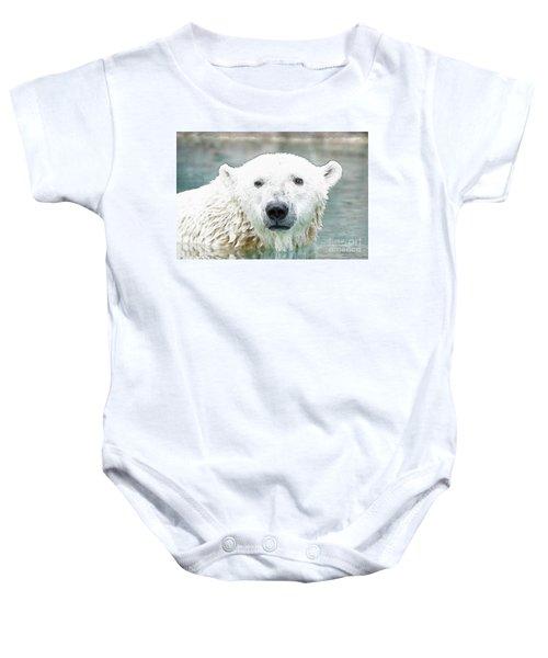 Wet Polar Bear Baby Onesie
