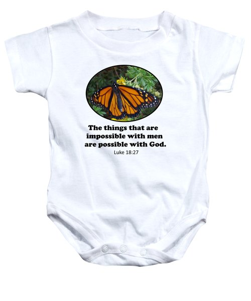When The Rain Clears Monarch Butterfly Baby Onesie