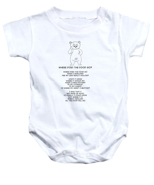 Where Does The Food Go Baby Onesie