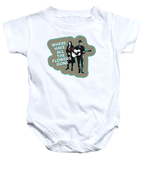 Where Have All The Flowers Gone Baby Onesie by David Richardson