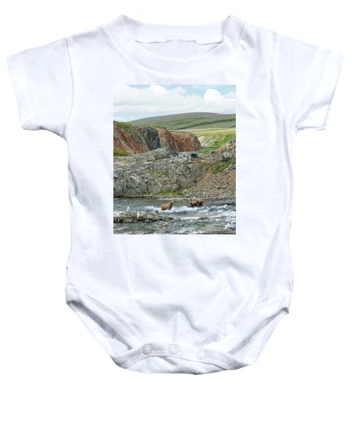 Where The Bears Are  Baby Onesie