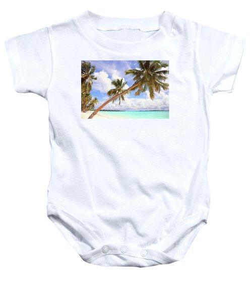 Whispering Palms. Maldives Baby Onesie