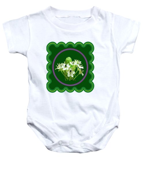 White Bunch Bud Flower Floral Posters Photography And Graphic Fusion Art Navinjoshi Fineartamerica P Baby Onesie