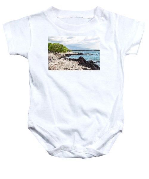 White Coral Coast Baby Onesie