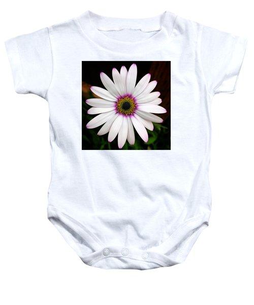 White Daisy Baby Onesie