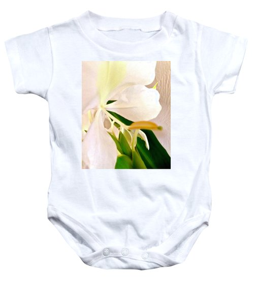 White Ginger Close Up Abstract Baby Onesie