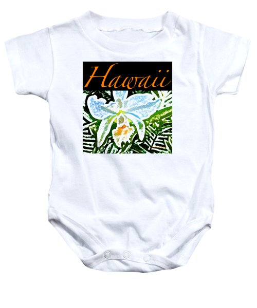 White Orchid T-shirt Baby Onesie