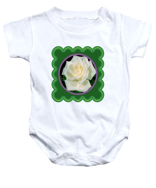 White Rose Flower Floral Posters Photography And Graphic Fusion Art Navinjoshi Fineartamerica Pixels Baby Onesie