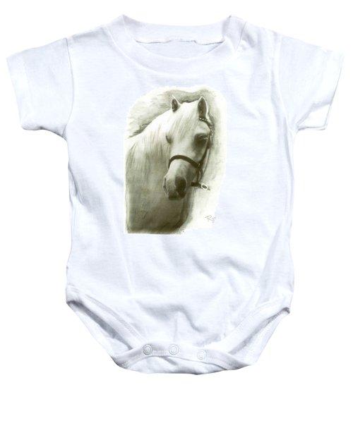 White Welsh Pony Baby Onesie