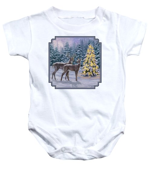 Whitetail Christmas Baby Onesie