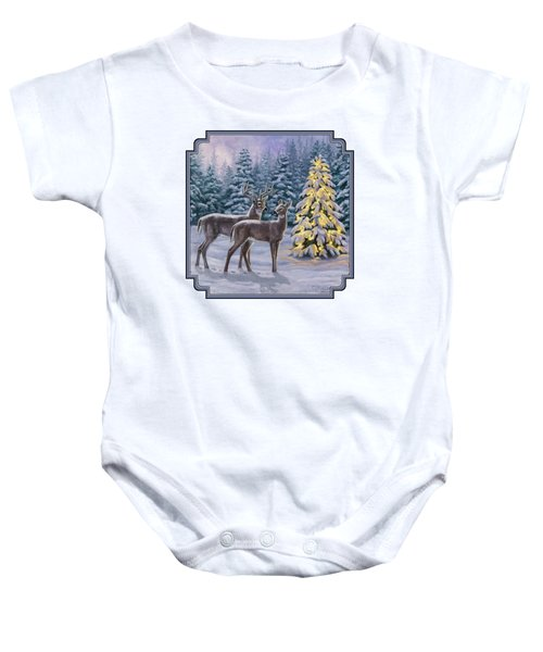 Whitetail Christmas Baby Onesie