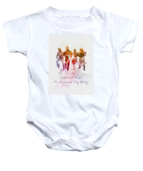 Who You Meet Along The Way Baby Onesie