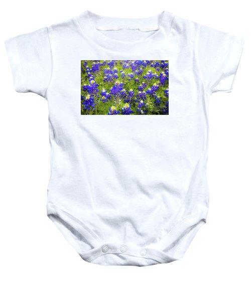 Wild Bluebonnets Blooming Baby Onesie