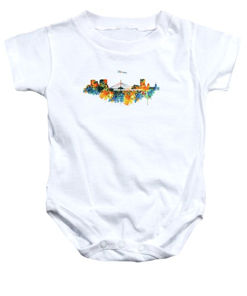 Winnipeg Skyline Baby Onesie