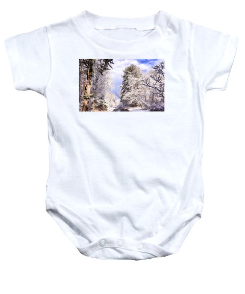 Winter Drive Baby Onesie