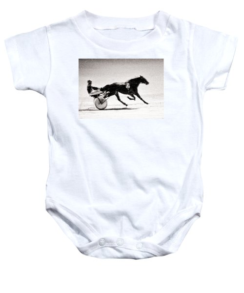 Winter Harness Racing Baby Onesie