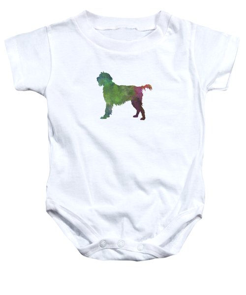 Wirehaired Pointing Griffon Korthals In Watercolor Baby Onesie by Pablo Romero