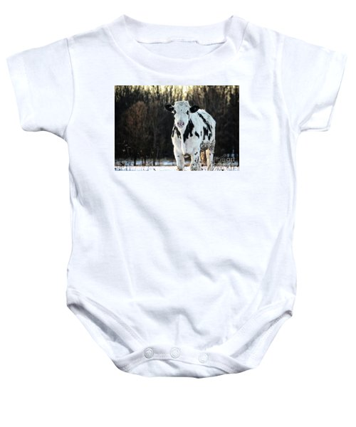 Wisconsin Dairy Cow Baby Onesie
