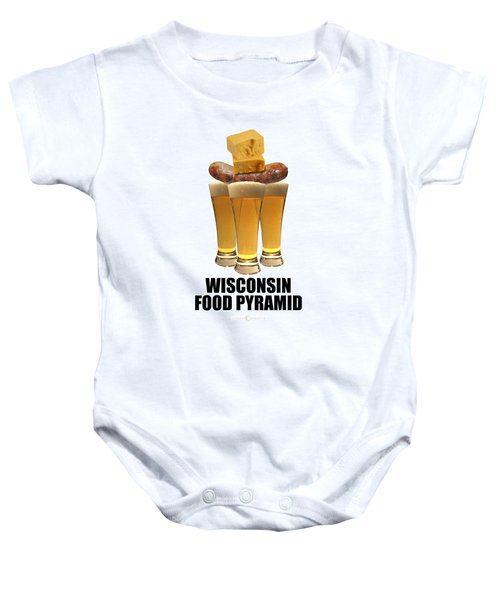 Wisconsin Food Pyramid Baby Onesie