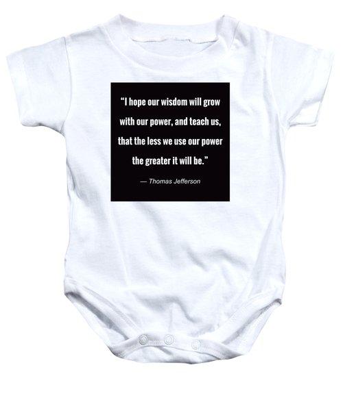 Wisdom Will Grow Baby Onesie