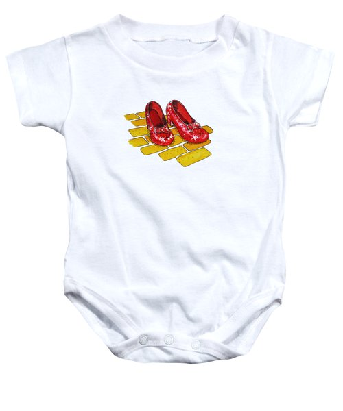 Wizard Of Oz Ruby Slippers Baby Onesie