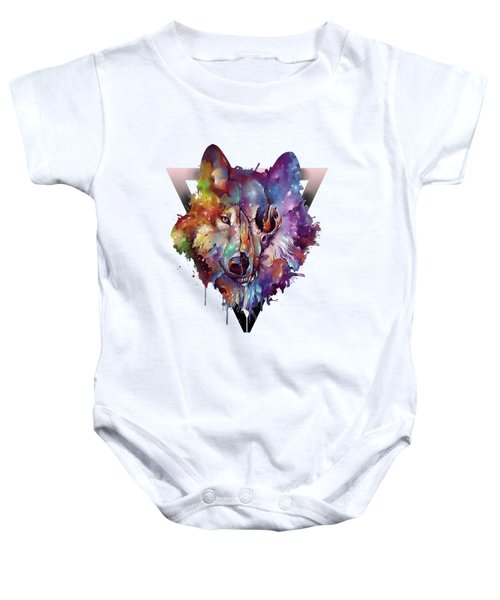 Wolf Colorful Baby Onesie