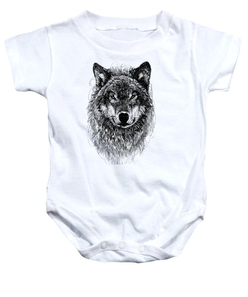 Wolf Baby Onesie by Michael Volpicelli