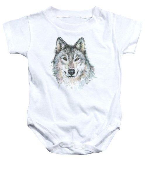 Wolf Baby Onesie by Olga Shvartsur