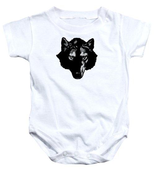 Wolf Tee Baby Onesie by Edward Fielding