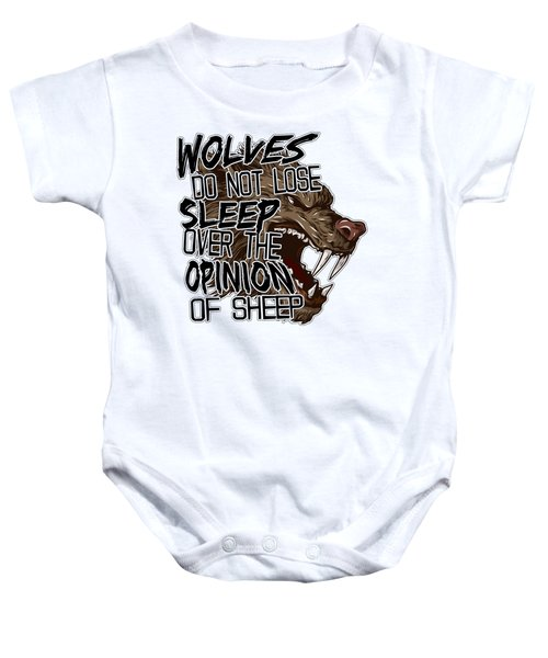 Wolves And Sheep Baby Onesie by Michelle Murphy