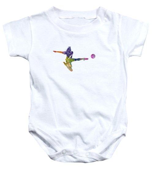 Woman Soccer Player 04 In Watercolor Baby Onesie