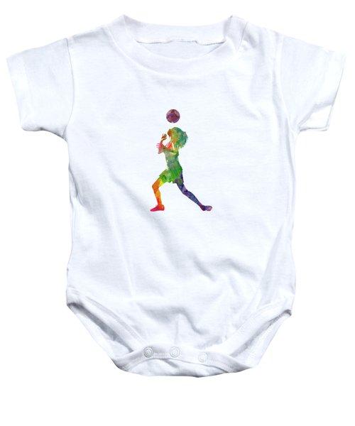 Woman Soccer Player 06 In Watercolor Baby Onesie
