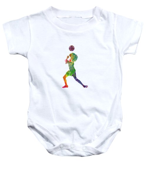 Woman Soccer Player 06 In Watercolor Baby Onesie