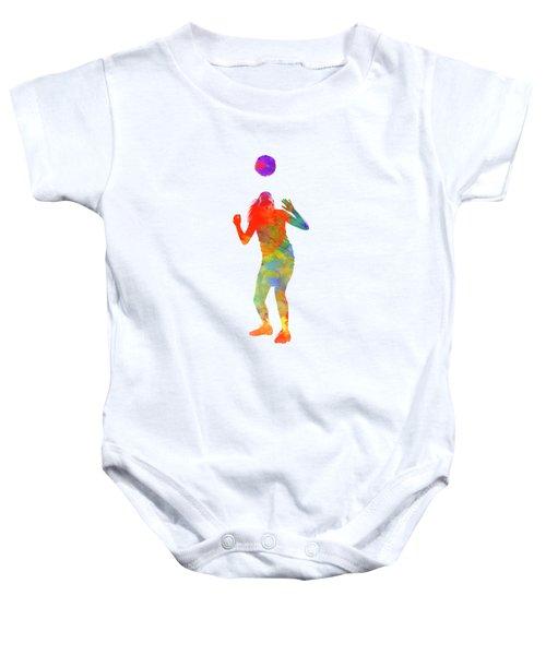 Woman Soccer Player 13 In Watercolor Baby Onesie