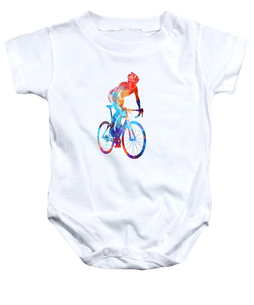 Woman Triathlon Cycling 06 Baby Onesie