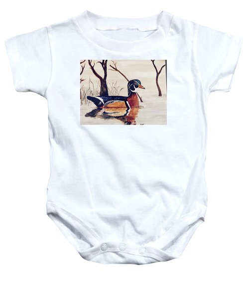 Wood Duck No. 2 Baby Onesie