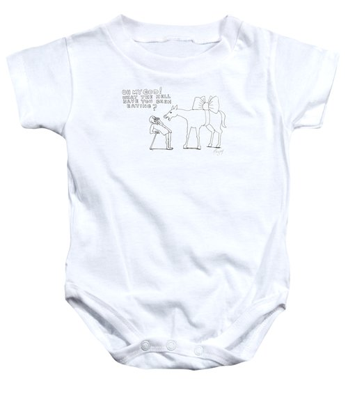 Words To Live By Baby Onesie