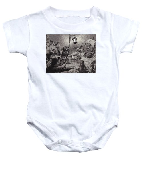Wreckers At Work On The Shores Of Cornwall  Baby Onesie