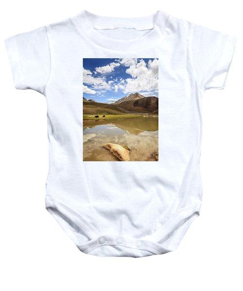 Yaks In Ladakh Baby Onesie