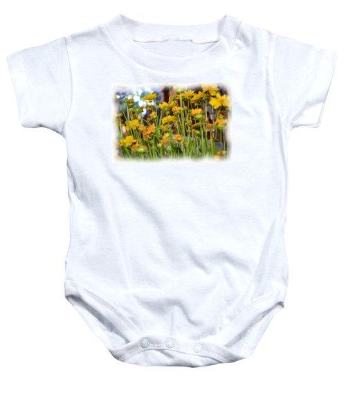 Yellow Fields Baby Onesie
