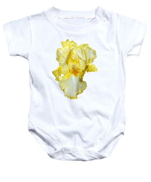 Yellow Mist Iris Baby Onesie